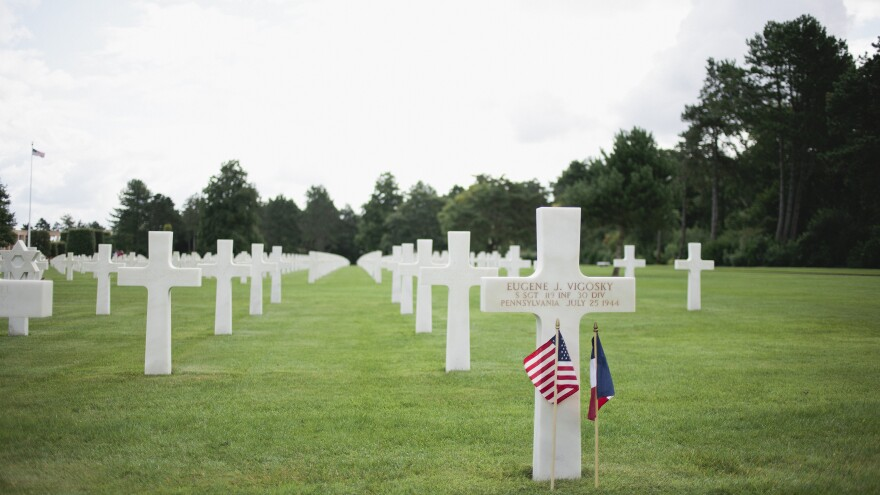 The Normandy American Cemetery is home to hundreds of American World War II veterans, including Eugene Vigosky.