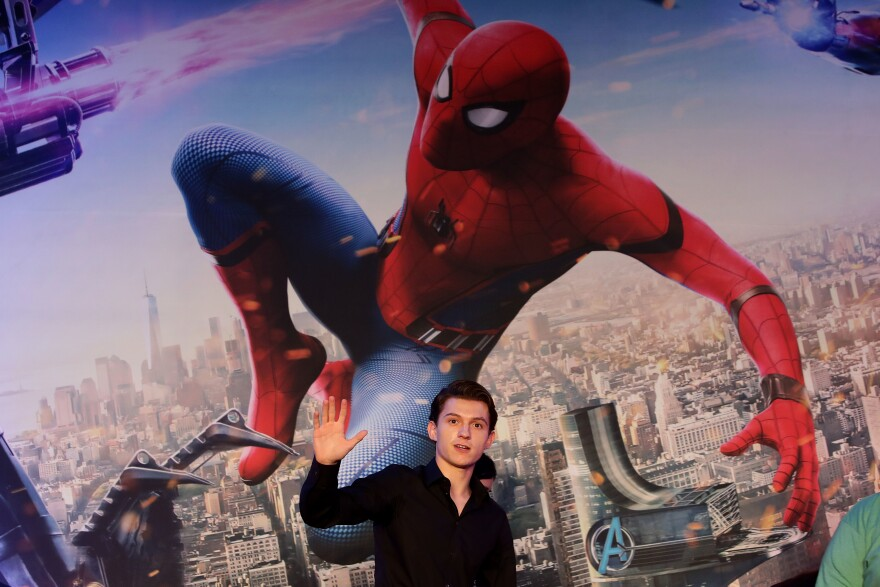 Actor Tom Holland attends the <em>Spider-Man: Homecoming</em> press conference at Conrad Seoul Hotel on July 3, 2017, in Seoul, South Korea.