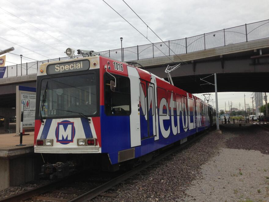 MetroLink train at station