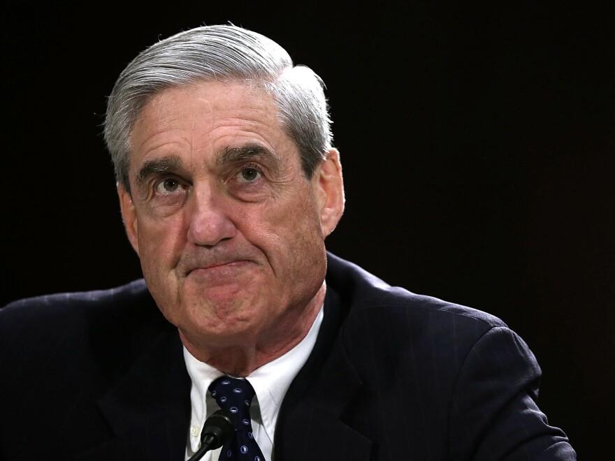 Robert Mueller, then director of the FBI, testifies before the Senate Judiciary Committee on June 19, 2013.