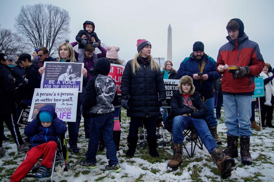 March for Life organizers say a major focus of this year's rally is to promote the idea that the anti-abortion rights position is bolstered by science.