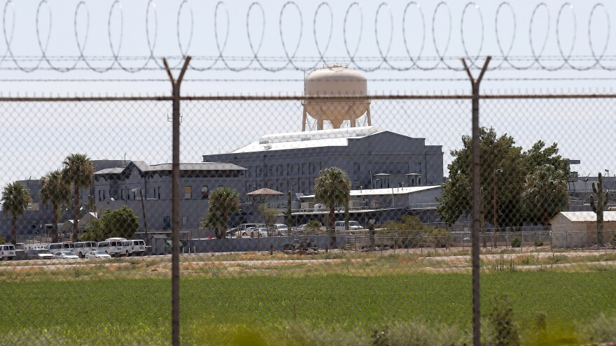 A state prison in Florence, Ariz. Civil liberties advocates are protesting a policy that denies state inmates the right to read a book about the impact of the criminal justice system on black men.