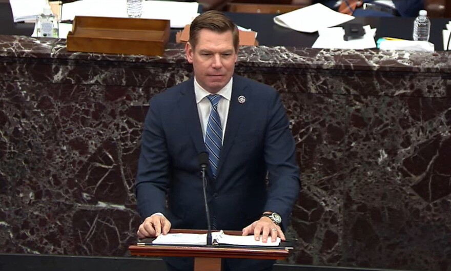 Rep. Eric Swalwell, D-Calif., emphasized that not all of former President Donald Trump's supporters who showed up at the rally on Jan. 6 engaged in the attack on the U.S. Capitol.