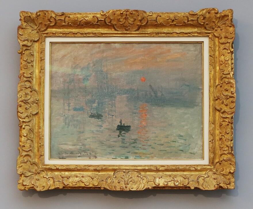 <em></em>Monet's <em>Impression, Sunrise</em> on display during a temporary exhibition at the Museum of Modern Art André Malraux in Le Havre in September 2017.
