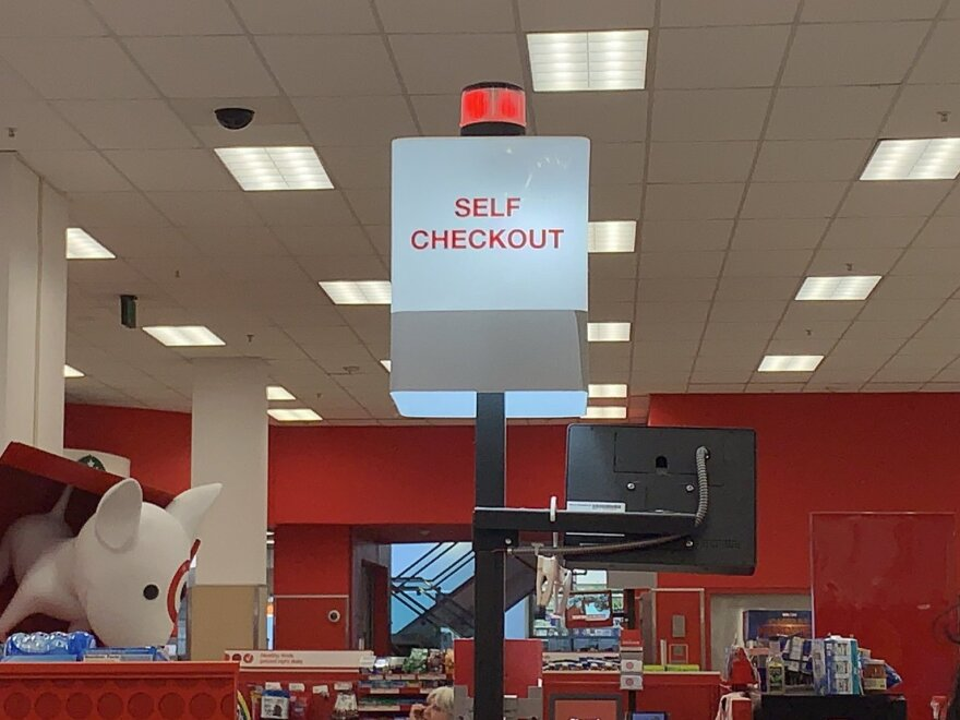 Customers abandoned their carts after the cash registers failed at a Target location in Washington, D.C.