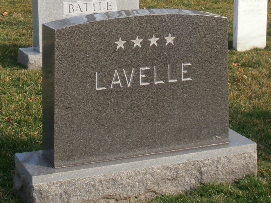 Even though Lavelle was officially retired in disgrace as a two-star general, his widow ordered a gravestone displaying four. No one has ever protested.