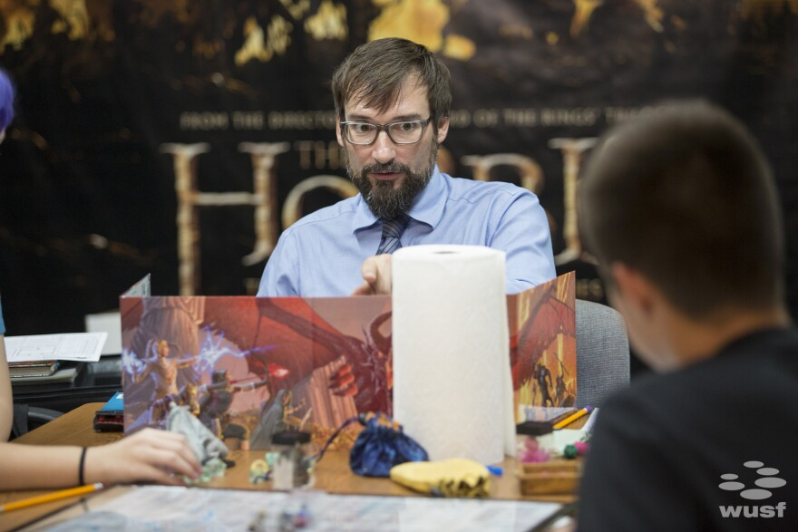 "Matt Fahy is a therapist, but during the game, his role is called the ""Dungeon Master."" The DM guides players through a a pre-written adventure that changes with the players' decisions."