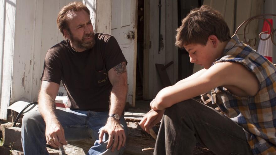 Nicolas Cage (left) and Tye Sheridan star in the film adaptation of Larry Brown's 1991 novel, <em>Joe</em>.