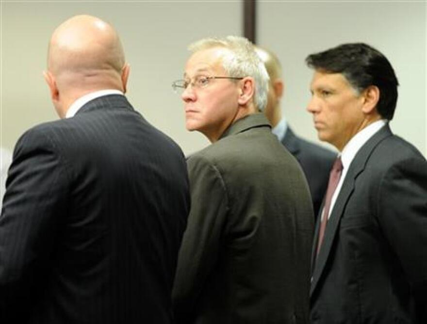 In this Thursday, April 19, 2012, photo, Oscar Ray Bolin Jr., center, watches as the jurors walk into the courtroom in Tampa. Bolin Jr is scheduled to die for one of them on Thursday, Jan. 7, 2016.