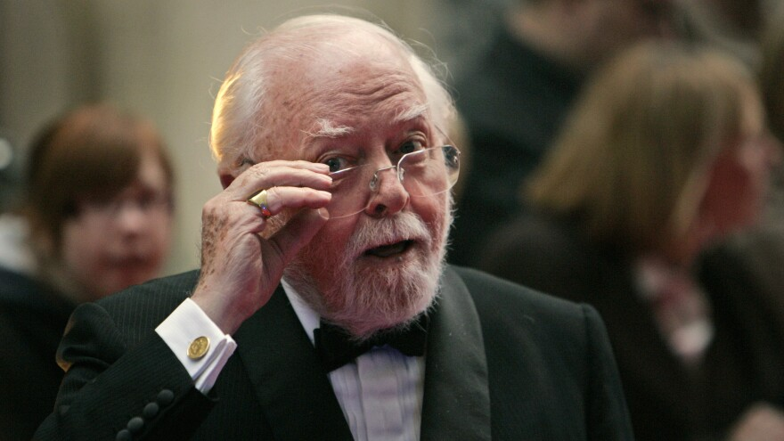 British actor, director, producer, filmmaker and entrepreneur Richard Attenborough, seen here in 2008, has died. He was 91.