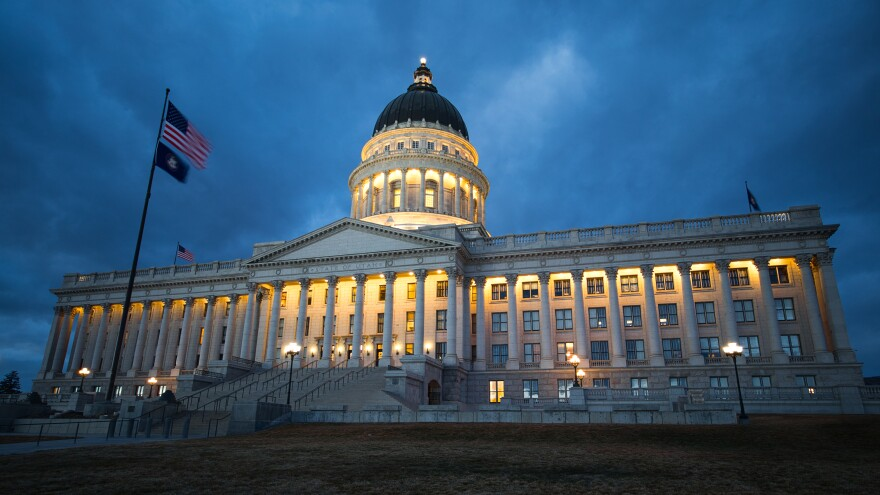 Photo of the Utah state capitol building.