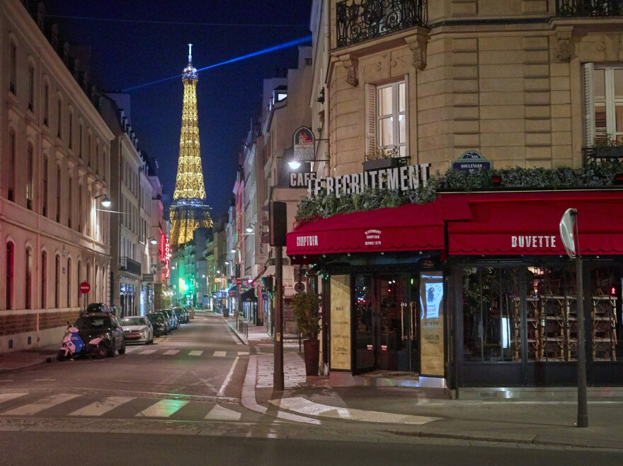 Paris is under nightly curfew, starting at 9 p.m., to curb the spread of rising coronavirus cases.