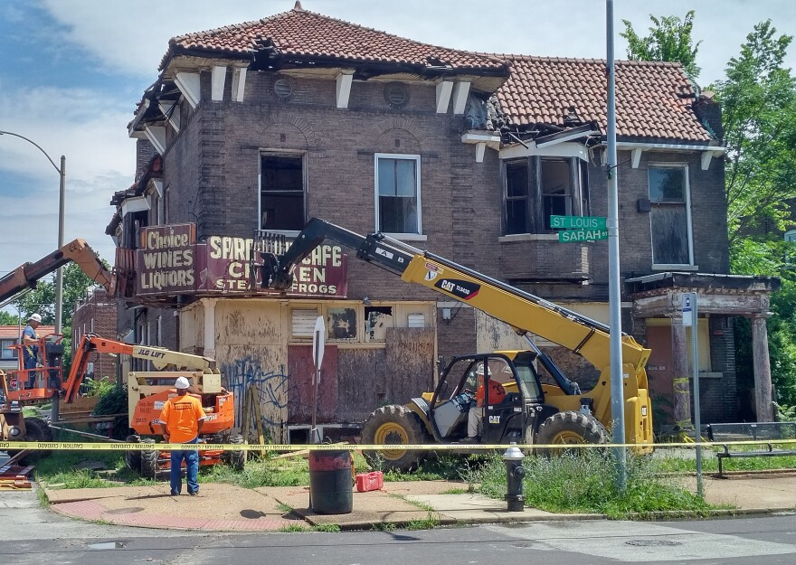 On, June 20, 2018, Northside Community Housing decided to remove the original Sara Lou's Cafe sign because several other historic signs were being stolen at that time. Once the building is restored and ready for business, then the group will replace the s