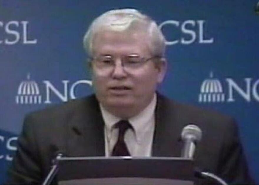 GOP Mapmaker Tom Hofeller speaking at the National Conference of State Legislatures in 2001.