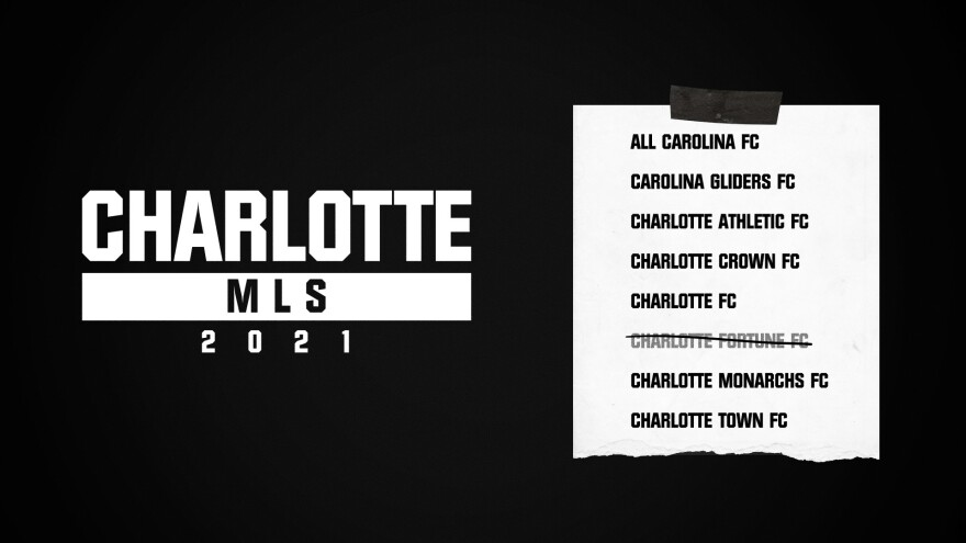 Charlotte's Major League Soccer team tweeted this list of possible names Monday.