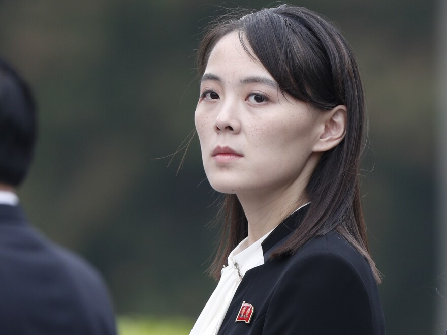 Kim Yo Jong, sister of North Korean leader Kim Jong Un, attends a wreath-laying ceremony at the Ho Chi Minh Mausoleum in Hanoi, Vietnam, last year.
