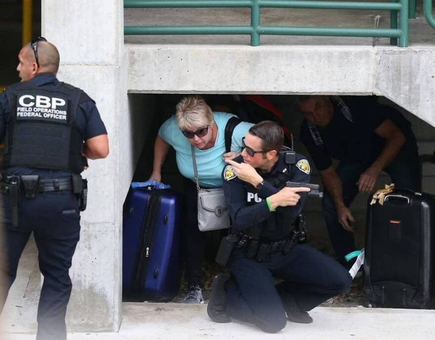 Fort Lauderdale International Airport was a scene of chaos and fear Friday for thousands of people after a shooter opened fire, killing five people.