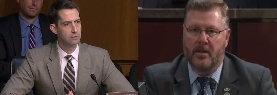 Sen. Tom Cotton (left) and Rep. Rick Crawford (right)