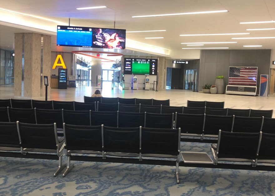 Tampa International Airport was virtually empty in April during the coronavirus pandemic.