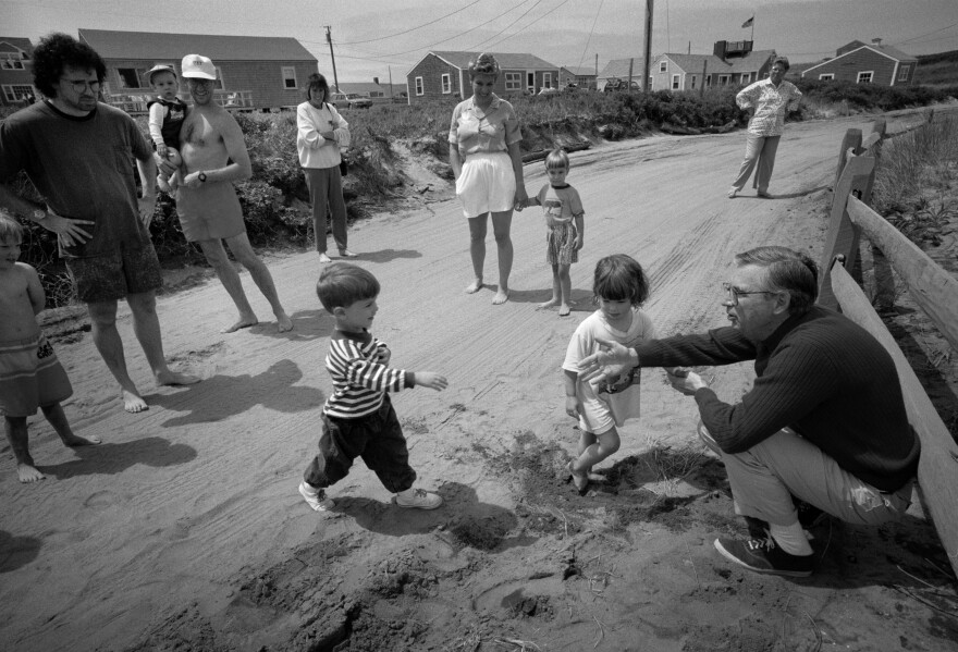 In Nantucket in 1992, the word is out that Fred is in town, and fans large and small stop by for a sighting and a chat.