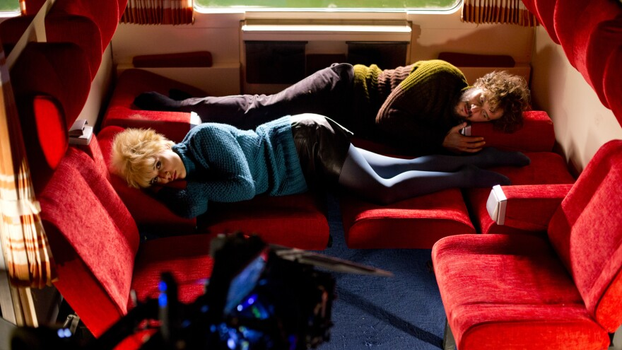 Strangers on a Train: Julieta (Adriana Ugarte) and Xoan (Daniel Grao) share a compartment.
