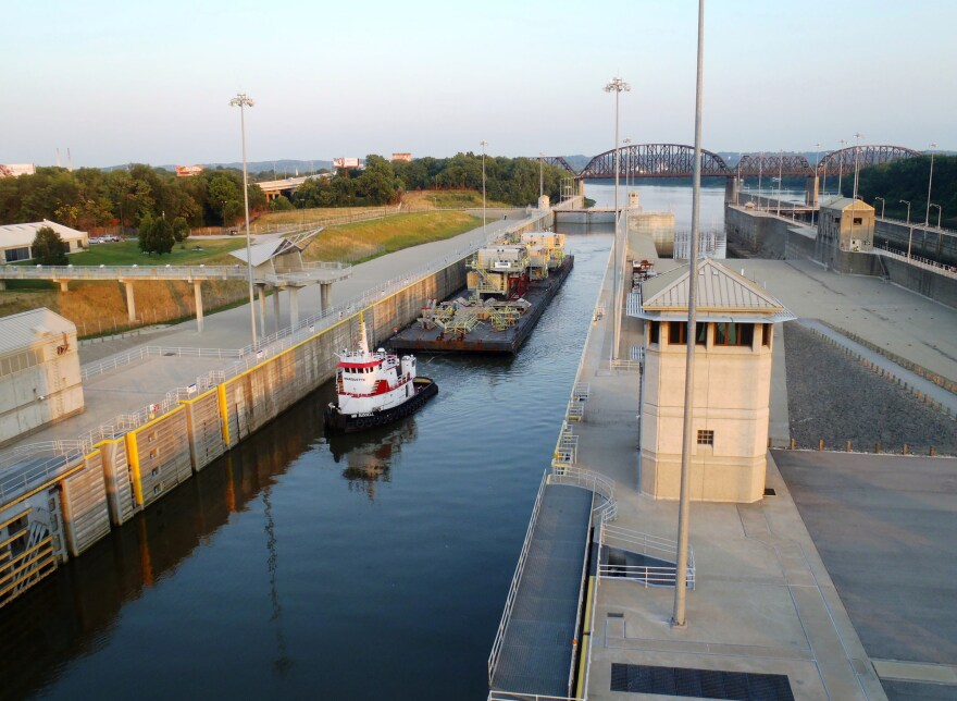 The U.S. Army Corps of Engineers maintains an extensive network of locks and dams on the Ohio River from Louisville to Pittsburgh. The system is critical to moving the enormous amount of freight that moves by barge and boat over the Ohio's waters every ye