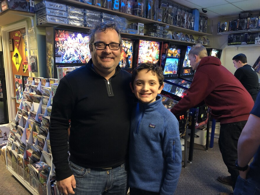 Ian Verschuren and his son Quin both compete in the Kidforce pinball league.