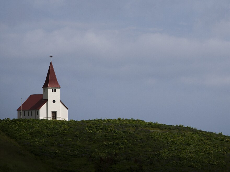 "An old church in Vik, the southernmost village in Iceland. Icelanders pay a ""parish tax"" to support organized religions."