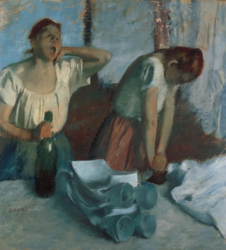 Edgar Degas' oil on canvas <em>Women Ironing</em>
