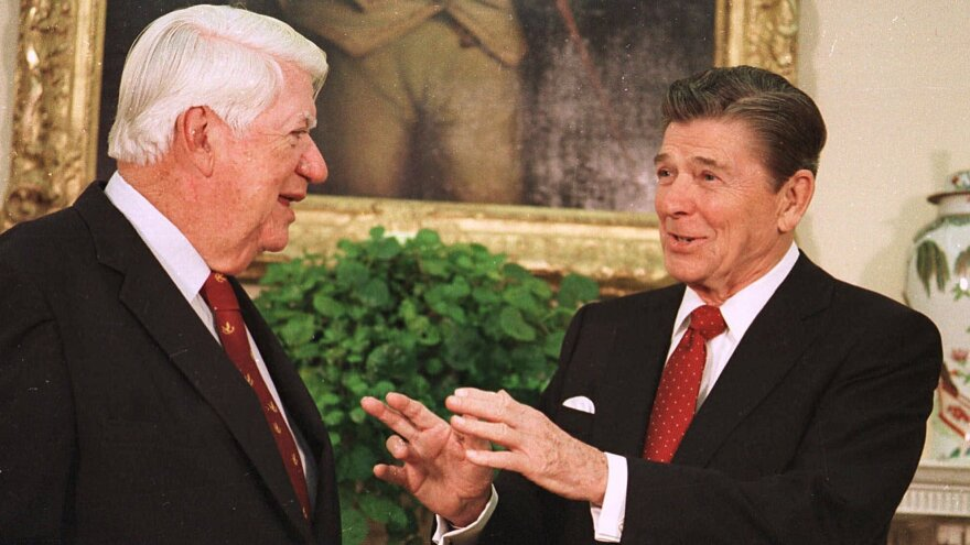 "President Reagan and House Speaker Thomas P. ""Tip"" O'Neill were able to forge a bond — something that has eluded President Obama and John Boehner."