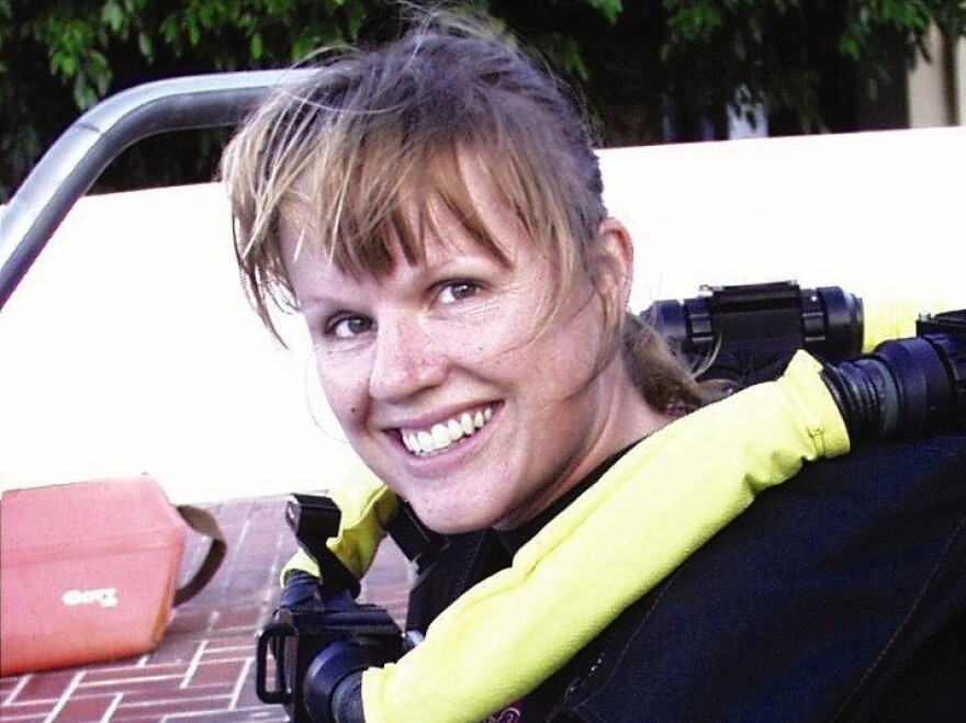 """""""Nobody had had ever attempted to cave dive inside an iceberg,"""" Heinerth says of her expedition in Antarctica."""