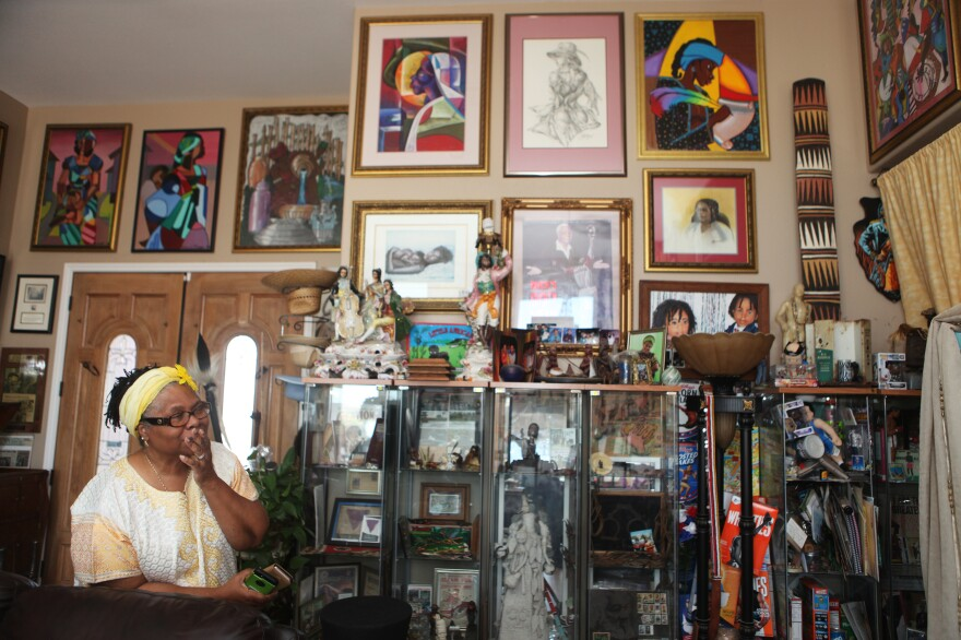 "Oran's wife, Betty, lives amid his collection, too. ""I think that Oran is somewhat eclectic,"" she says. ""He's an artist and so I don't try to inhibit his creativity and what he does because it's him."""