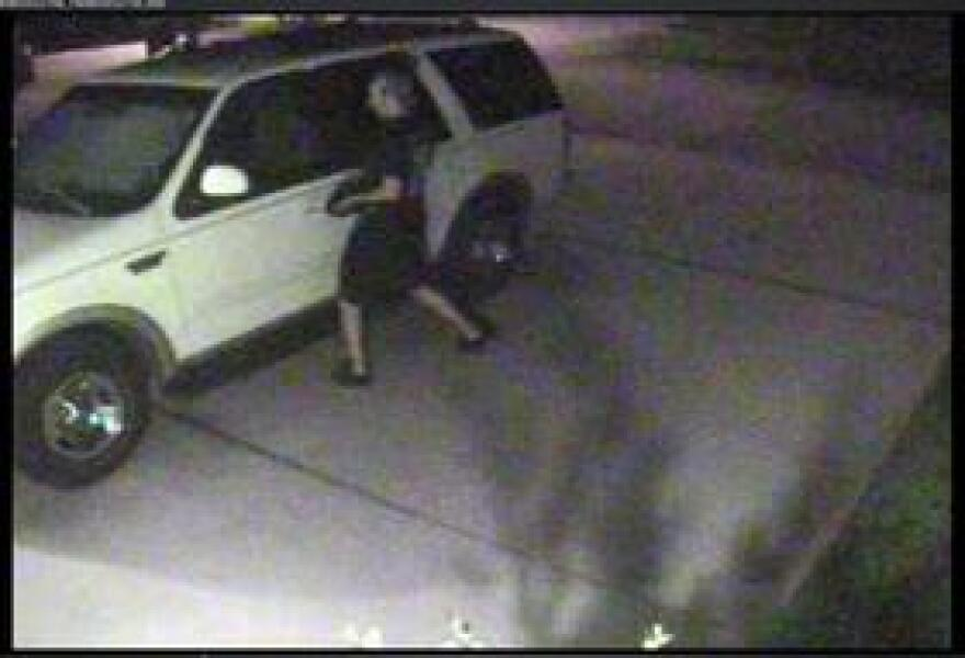 Police say the men tried opening this SUV, but it was locked, so they kept going.