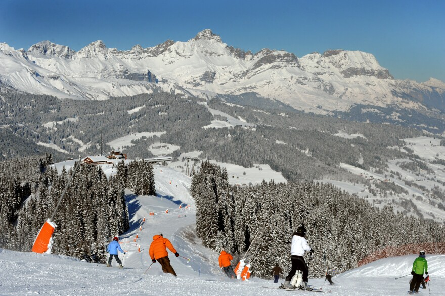 Russian tourists typically flock to the luxury ski resort of Megeve in the French Alps, but the weak ruble has kept them away this year.