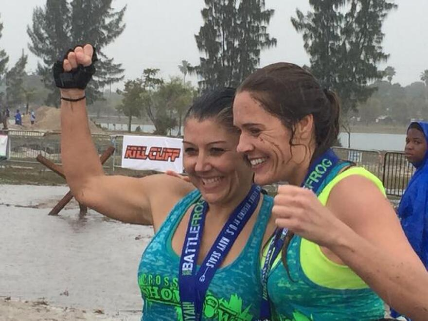 Like all other racers, if you finish the race you get bragging rights. Deanna Hedigan has crossed these finish lines many times before.