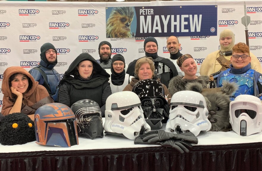 Fans of Peter Mayhew, the actor who played Chewbacca, honored him Friday at FANEXPO Dallas.