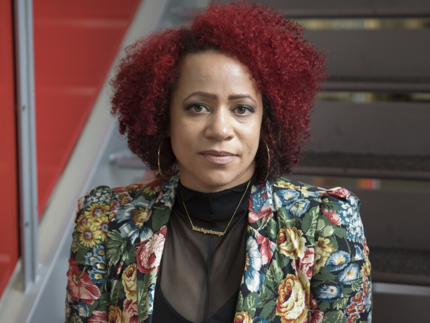 """Nikole Hannah-Jones has received the MacArthur """"Genius Award,"""" as well as a Peabody Award and George Polk Award. She co-founded the Ida Be Well Society for Investigative Reporting, which is dedicated to increasing the ranks of investigative reporters of color."""
