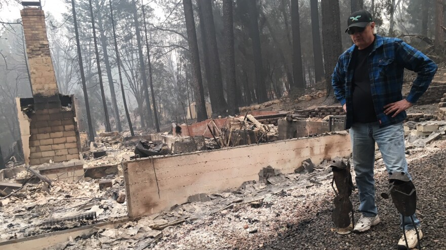 The home Jim Knaver shared with his wife, Toni, in Paradise, Calif., was completely leveled by the Camp Fire.