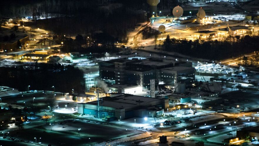 A helicopter view of the National Security Agency in Fort Meade, Md., in 2016.