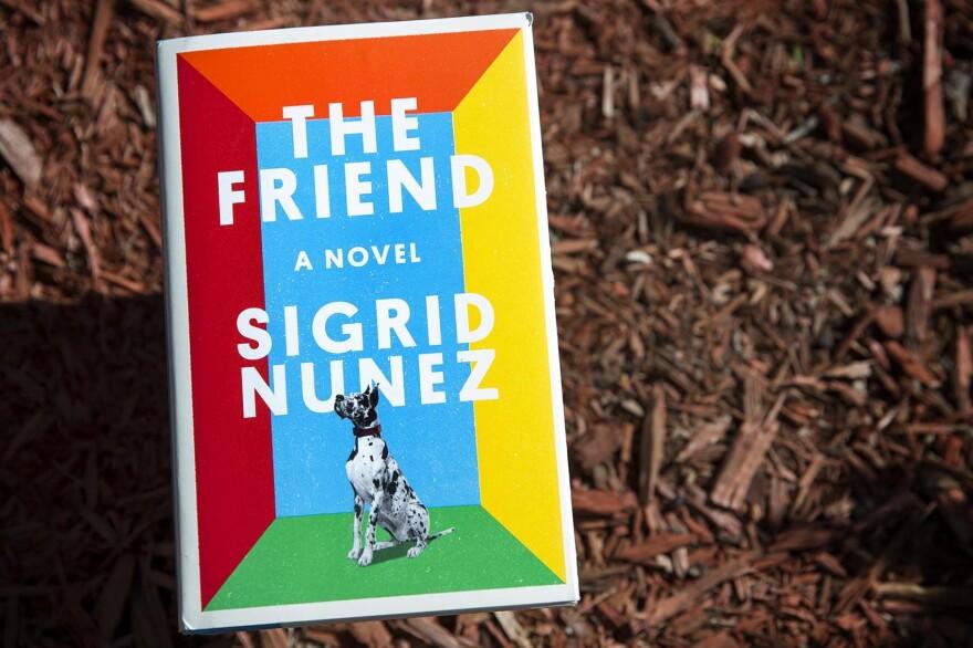"""""""The Friend,"""" by Sigrid Nuñez. (Robin Lubbock/WBUR)"""