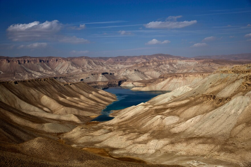 A part of Band-e-Amir, Afghanistan's first national park, in Bamiyan province.