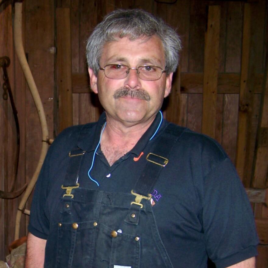Bill Couser raises corn on his farm near Nevada, Iowa. Like many corn farmers, he is anticipating a banner crop this year.