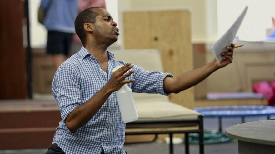 Daniel Breaker, a Juilliard-trained actor who's earned praise for roles as varied as Donkey in <em>Shrek the Musical </em>and the protagonist Youth in <em>Passing Strange,</em> gets to play a king in a new musical adaptation of Shakespeare's <em>Love's Labour's Lost.</em>