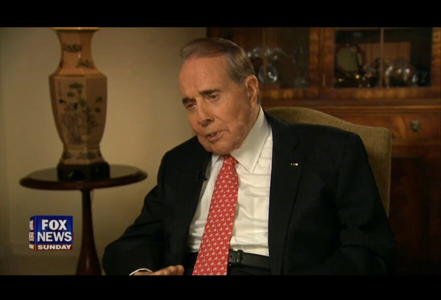 Bob Dole, the former U.S. senator and Republican Party leader from Kansas, during his Fox News Sunday interview.