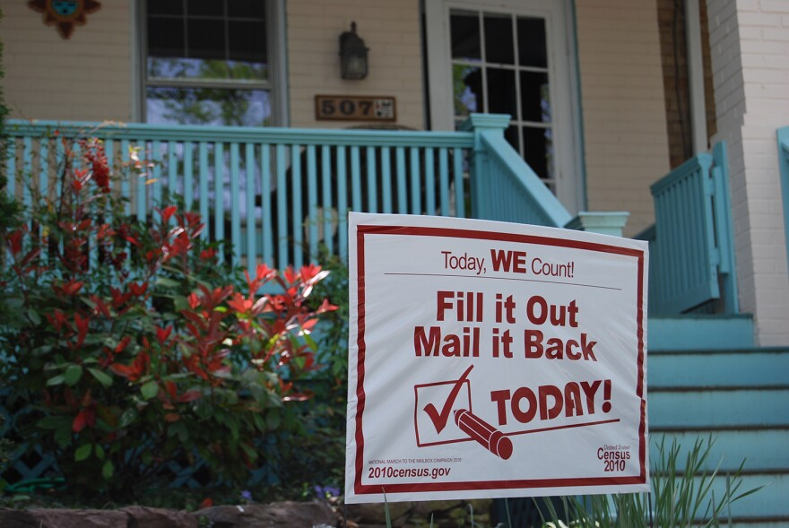 Households put up signs to encourage Census participation in 2010. The 2020 census will differ from ones in the past because it will be conducted almost entirely online.