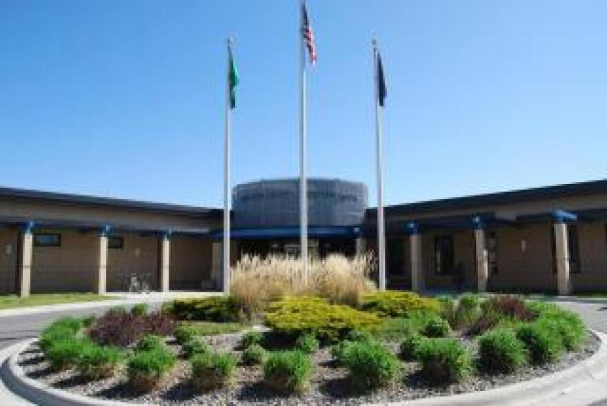 The front exterior of the Gallatin County Detention Center