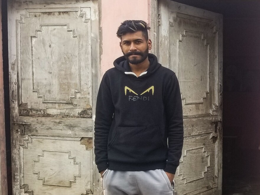 Sevak Singh, 26, in front of his family's home in rural Punjab. Singh planned to cross the U.S.-Mexico border illegally but was deported from Mexico in October. He admits that he and other Punjabi Sikh migrants rehearsed fake backstories about being persecuted in India to try to win asylum in the United States.