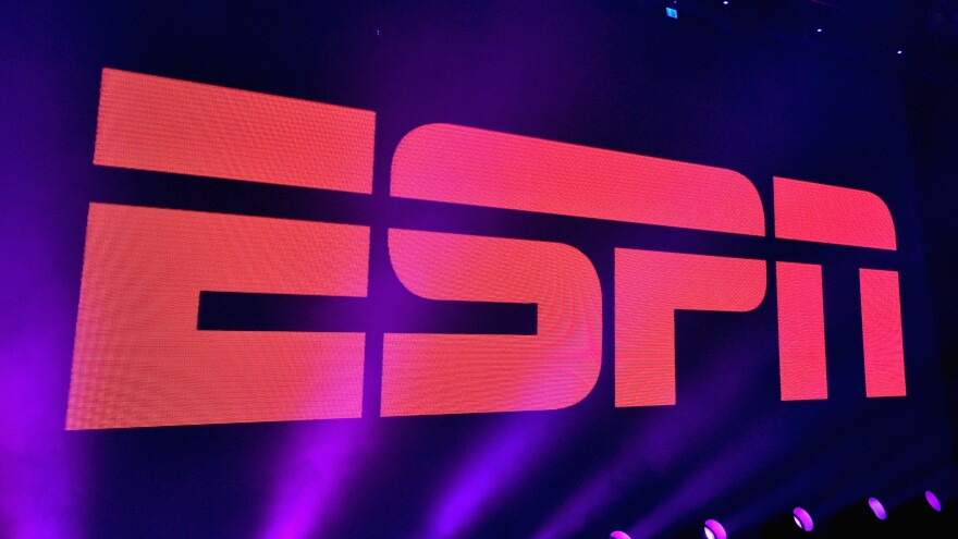 A view of the logo during ESPN The Party on February 5, 2016 in San Francisco.
