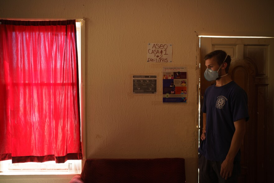 Will Rocci is pictured inside a group home in Pan de Vida Migrant Shelter in Ciudad Juárez on September 24, 2020.