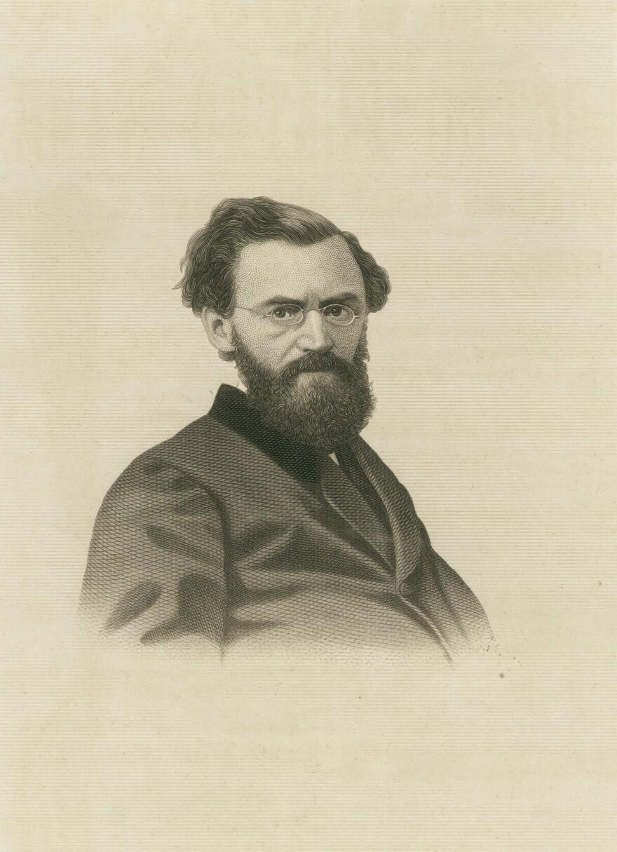 Portrait of Carl Schurz (1829-1906), 1870. Steel Engraving by George E. Perine.